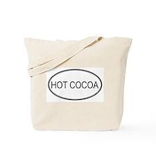 HOT COCOA (oval) Tote Bag