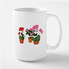 Planters of Mixed Geraniums Mugs