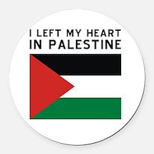 Support Palestine Round Car Magnet