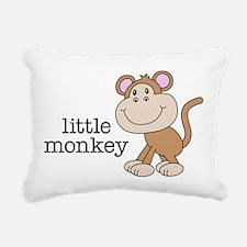 Little Monkey Rectangular Canvas Pillow