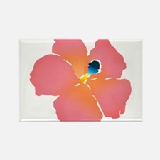 Watercolor of lush tropical hibiscus flowers Magne