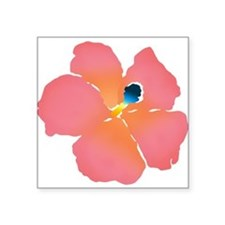 Watercolor of lush tropical hibiscu Sticker