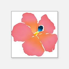 Watercolor of lush tropical hibiscu Sticker