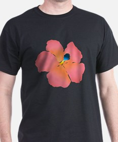 Watercolor of lush tropical hibiscus T-Shirt