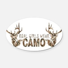Unique Camo Oval Car Magnet