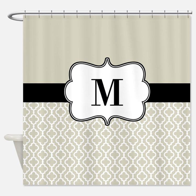 Brown And Black Shower Curtains