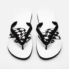Cute Checkered Flip Flops