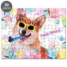 Happy Birthday Corgi Puzzle