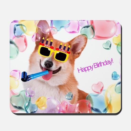 Happy Birthday Corgi Mousepad