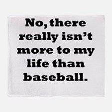 Baseball My Life Throw Blanket