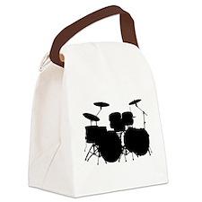 Cute Drummer Canvas Lunch Bag