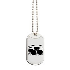 Cute Drum and bass Dog Tags