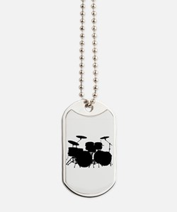 Funny Drum and bass Dog Tags