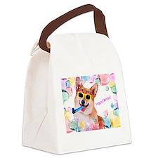 Happy Birthday Corgi Canvas Lunch Bag