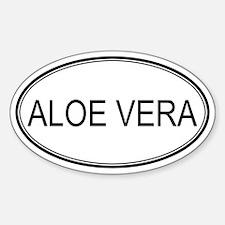 ALOE VERA (oval) Oval Decal