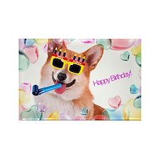 Happy Birthday Corgi Magnets