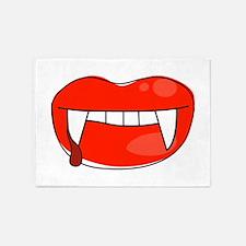 Vampire Lips 5'x7'Area Rug
