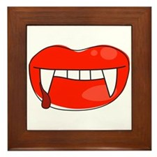 Vampire Lips Framed Tile