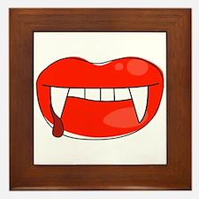 Vampire Lips Framed Tile