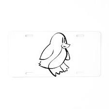 Penguin Profile Aluminum License Plate