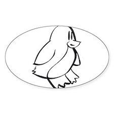 Penguin Profile Decal