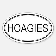 HOAGIES (oval) Oval Decal