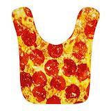 Pizza Fleece Bibs
