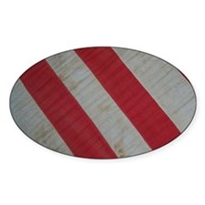 Red and White Stripes Decal