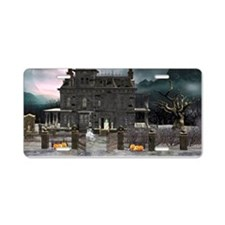 Haunted House 1 Aluminum License Plate
