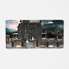Haunted House 1 Aluminum License Plate