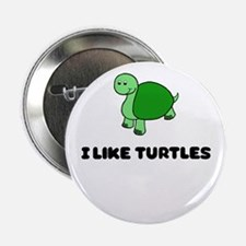 """I like turtles 2.25"""" Button (10 pack)"""