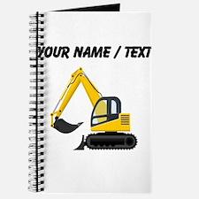 Custom Yellow Excavator Journal