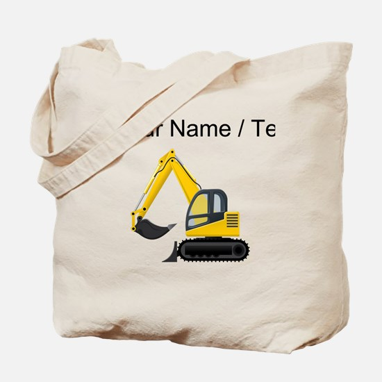 Custom Yellow Excavator Tote Bag