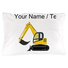 Custom Yellow Excavator Pillow Case