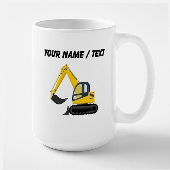 Custom Yellow Excavator Mugs