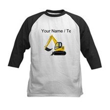Custom Yellow Excavator Baseball Jersey