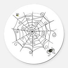 Spider Web Round Car Magnet