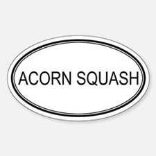 ACORN SQUASH (oval) Oval Decal
