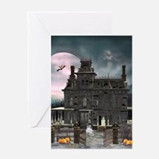 Haunted House 1 Greeting Card