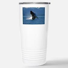 Humpback Whale Breachin Stainless Steel Travel Mug