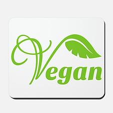 Green Vegan Symbol Mousepad