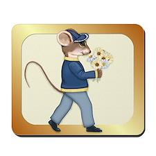 Daisy Bouquet Boy Mouse Mousepad