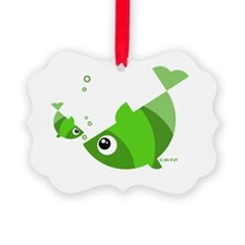 Green Fishes Ornament