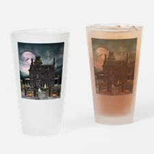 Haunted House 1 Drinking Glass
