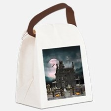 Haunted House 1 Canvas Lunch Bag