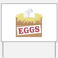 Eggs Crate Yard Sign