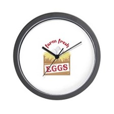 Farm Fresh Wall Clock