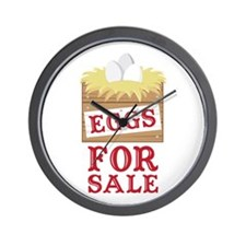 Eggs For Sale Wall Clock