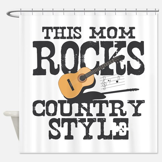 Mom Rocks Country Shower Curtain