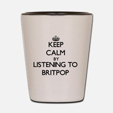 Funny Britpop Shot Glass